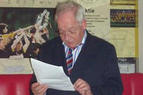 Klaus Drücke bei Abschiedsfeier